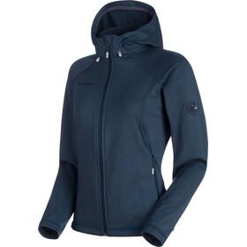 Mammut Runbold ML Hooded Jacket Women marine dark melange 71b6ecd9de